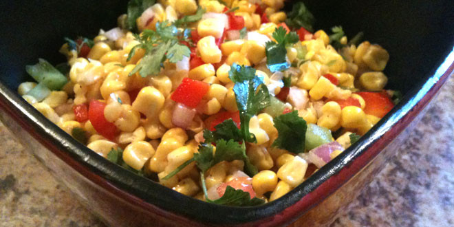 Sweet Corn Salad with Cilantro and Lime | Brothers-All-Natural blog ...