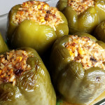 Stuffed Peppers with Harvester Farms Corn