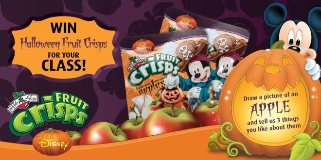 Halloween Contest:  Win Disney Fruit Crisps for your class