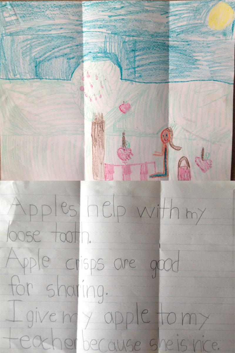 Apple Drawing winner