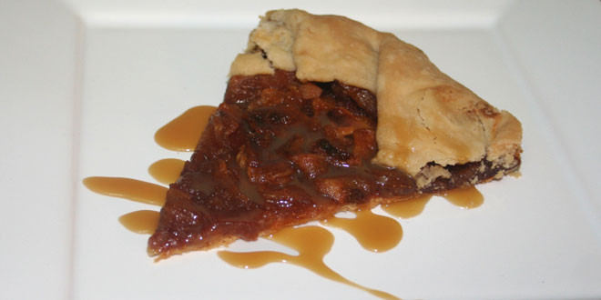 Tasty Pear Galette with Caramel Sauce