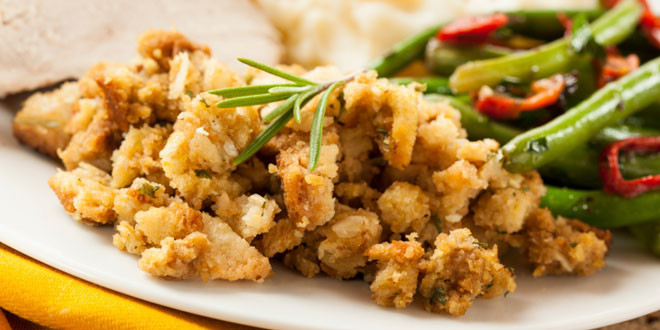 Herbed Stuffing with Pear & Walnuts