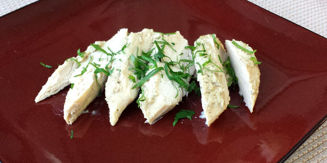 Pineapple Herb Marinated and Roasted Chicken Breast