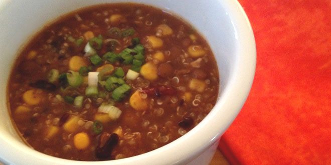 Vegan Corn and Quinoa Chili