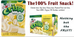 Banana Fruit Crisps, freeze-dried fruit, gluten free snack