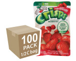 Freeze-Dried Fruit Snack: Strawberry Fruit Crisps 100-Pack, Brothers-All-Natural