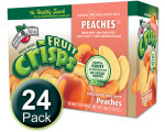 Freeze-Dried Fruit Snacks: Peach Fruit Crisps 24-pack, Brothers-All-Natural