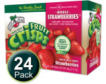 Freeze-Dried Fruit Snack: Strawberry Fruit Crisps 24-Pack, Brothers-All-Natural