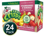 Freeze-Dried Fruit Snack: Strawberry-Banana Fruit Crisps 24-Pack, Brothers-All-Natural