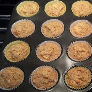 gluten free muffins in pan