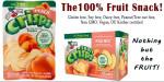 Peach Fruit Crisps, freeze-dried fruit, gluten free snack