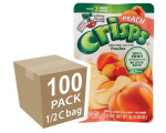 Freeze-Dried Fruit Snacks: Peach Fruit Crisps 100-pack, Brothers-All-Natural