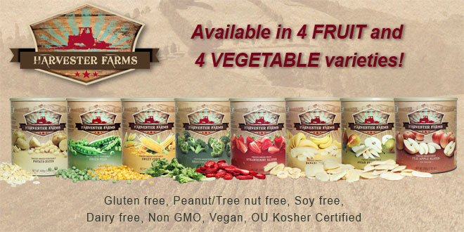 Harvester Farms Freeze-Dried Fruit and Vegetables