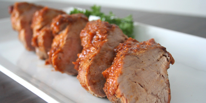 Pan-Seared Pork Tenderloin with Peach BBQ Glaze