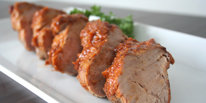 Pork Tenderloin with Peach BBQ Glaze