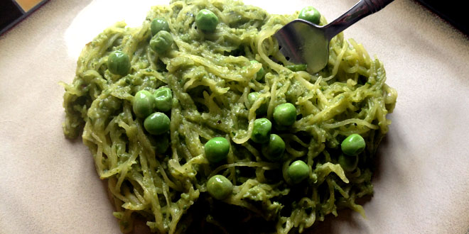 Pea Pesto and Spaghetti Squash Recipe