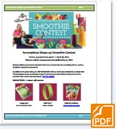 smoothie contest pdf