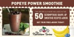 Popeye Power Smoothie Recipe with spinach, berries and banana