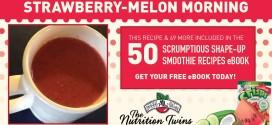 Strawberry-Melon Morning Smoothie