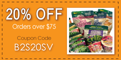 save 20% Off fruit snacks for school