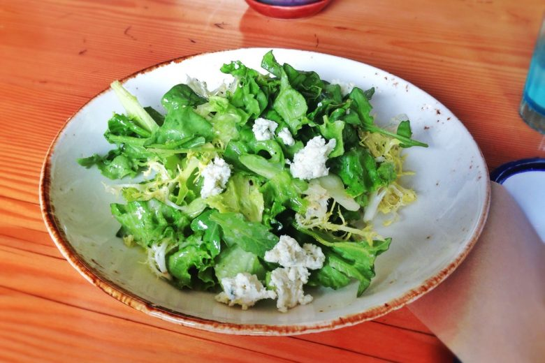 Freeze Dried Pear Arugula Salad