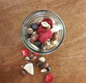 DIY Freeze Dried Trail Mix Peach & Strawberry