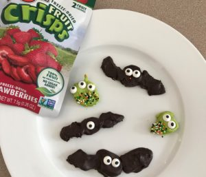 Chocolate Covered Fruit Crisps Halloween Critters