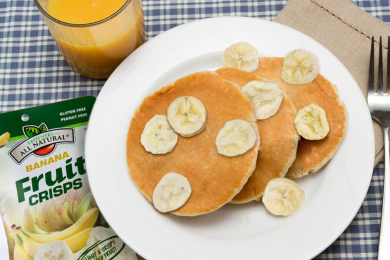 pancakes made with freeze dried bananas