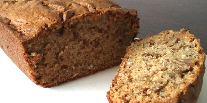 Cinnamon-pecan banana bread recipe