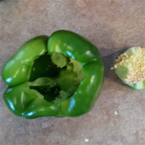 cored green pepper