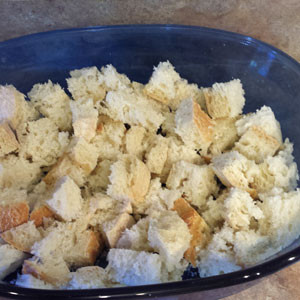 cubed bread for french toast