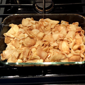 apple crisp recipe step 2