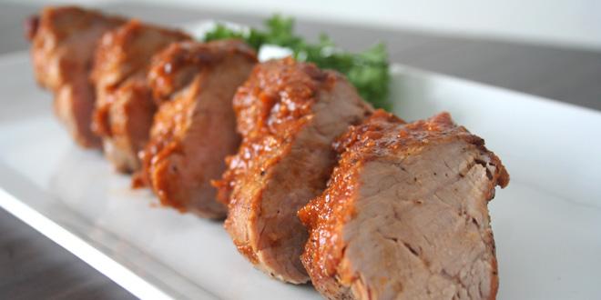 Pork Tenderloin with Peach BBQ Glaze