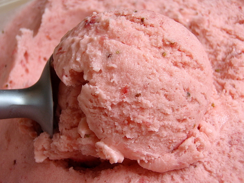 Homemade, Dairy-Free, Gluten-Free Strawberry Ice Cream