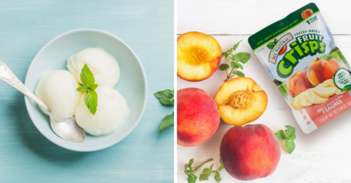 Allergy Safe Peach Sorbet
