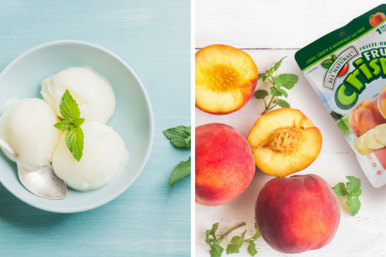dairy and gluten free peach sorbet