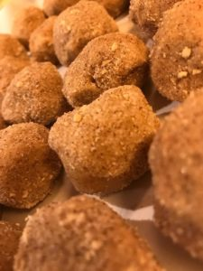Peach Snicker Doodle Cookie Dough Balls