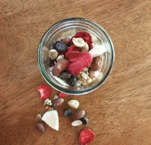 DIY Freeze Dried Trail Mix Peach & Strawberry