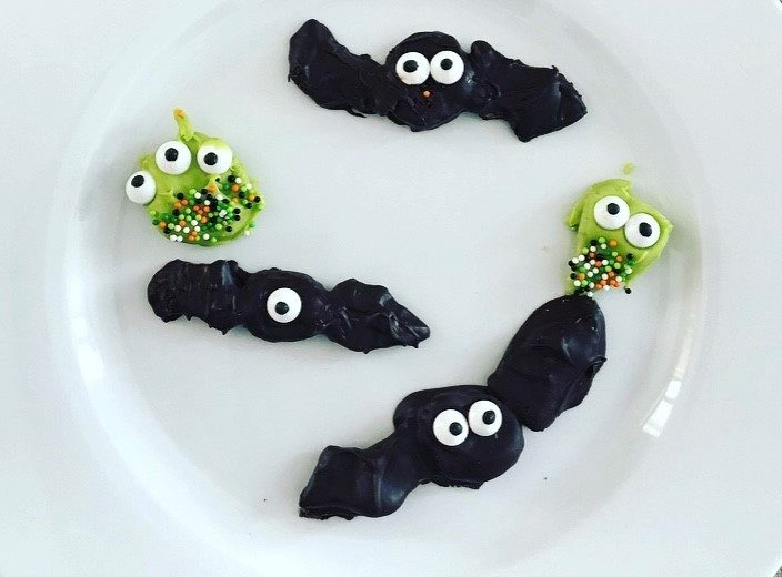 chocolate covered freeze dried fruit Halloween critters