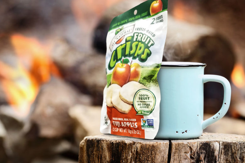 camping with fruit crisps
