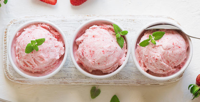 Gluten Free Strawberry Ice Cream